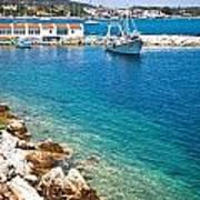 Skiathos Harbour Poster
