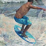 Skimboardin' In Dewey Poster