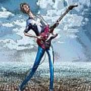 Skinny Guitar Poster