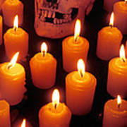 Skull And Candles Poster