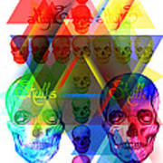 Skulls Illuminate Skulls Poster by Kenal Louis