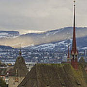 Skyline Of Zurich From The University Poster