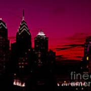Skylline Of Philadelphia Pennsylvania Poster