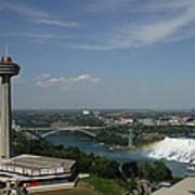 Skylone Tower And Niagara Falls Poster