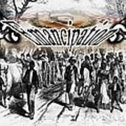 Slaves Traveling To Freedom Land Poster by Belinda Threeths