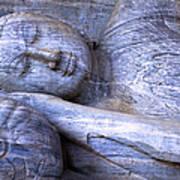 Sleeping Buddha Statue Poster