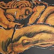 Sleeping Nymph4 - Female Nude Poster