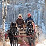 Sleigh Ride In The Frontenac Axis Poster