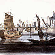 Sluice In China, 1800 Poster