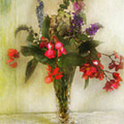 Small Vase Of Flowers Poster
