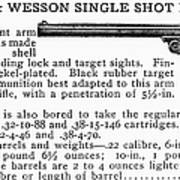 Smith & Wesson Pistol Poster