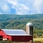 Smokie Mountain Barn Poster