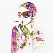 Smoking In The Sun Poster by Naxart Studio