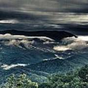 Smoky Mountain Clouds    Poster by Glenn Lawrence
