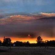 Smoky Sunset Wide Angle 08 27 12 Poster