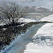 Snow Above Barbondale - Barbon Poster