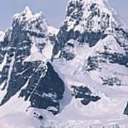 Snow-covered Mountains On Wienke Poster