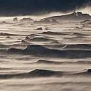 Snow Drift Over Winter Sea Ice Poster