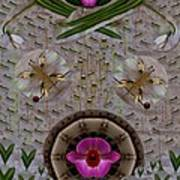 Snow Flowers And Orchids In Heavenly Wisdom Poster