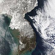 Snow In Korea Poster by Stocktrek Images