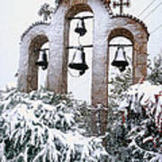 Snow On Campanile Poster