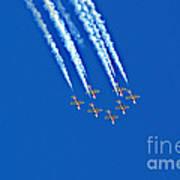 Snowbirds At Airshow Poster