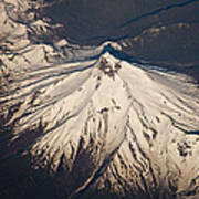 Snowcovered Volcano Andes Chile Poster