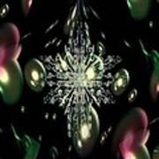 Snowflake Bubble Glass Poster