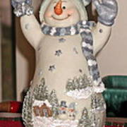Snowman With Bell Poster