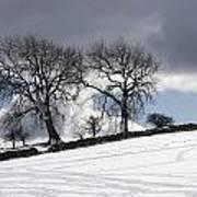 Snowy Field, Weardale, County Durham Poster by John Short