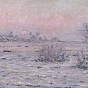 Snowy Landscape At Twilight Poster
