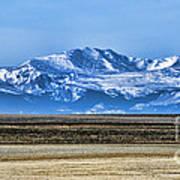 Snowy Rockies Poster