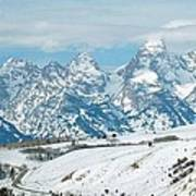 Snowy Tetons Poster