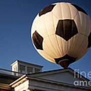 Soccer Ball Over Long Branch Poster