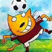 Soccer Cat 4 Poster by Scott Nelson