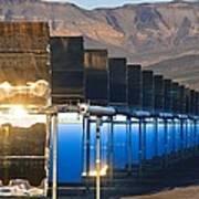 Solar Power Plant At Sunrise Poster