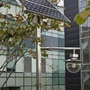 Solar-powered Street Light In Daejeon Poster by Mark Williamson