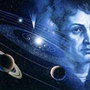 Solar System And Nicolaus Copernicus Poster