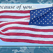 Soldier Veteran Thank You Poster