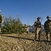 Soldiers Discuss A Strategic Plan Poster