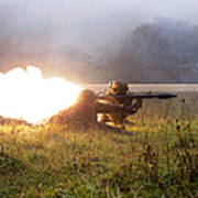 Soldiers Fire A Rocket Propelled Poster