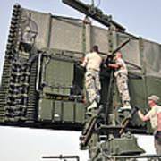 Soldiers Set Up A Tps-75 Radar Poster
