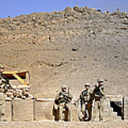 Soldiers Wait For Afghan National Poster
