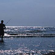 Solitary Angler Poster