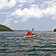 Solitary Man In Kayak Poster