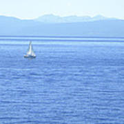 Solitary Sailing On Lake Tahoe Poster