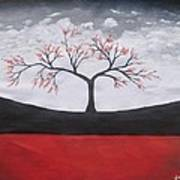 Solitary Tree-oil Painting Poster by Rejeena Niaz