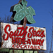 South Seas Sign Poster
