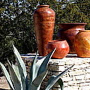 South Western Pottery And Cactus Poster