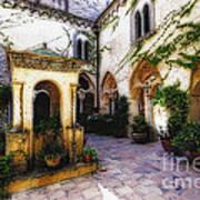 Southern Italy Villa Courtyard  Poster